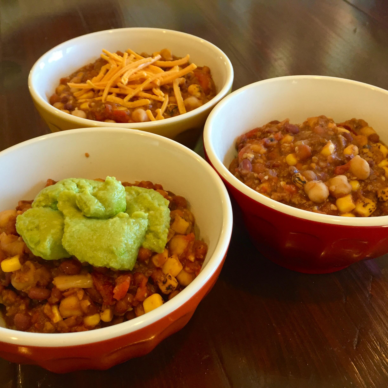 Vegalicious, Easy 4-Bean Chili (vegan, dairy-free, gluten ...
